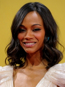 Zoe Saldana Soft Curly Bob Hairstyle