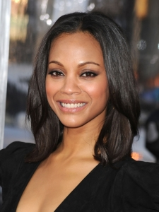 Zoe Saldana Shoulder-Length Bob