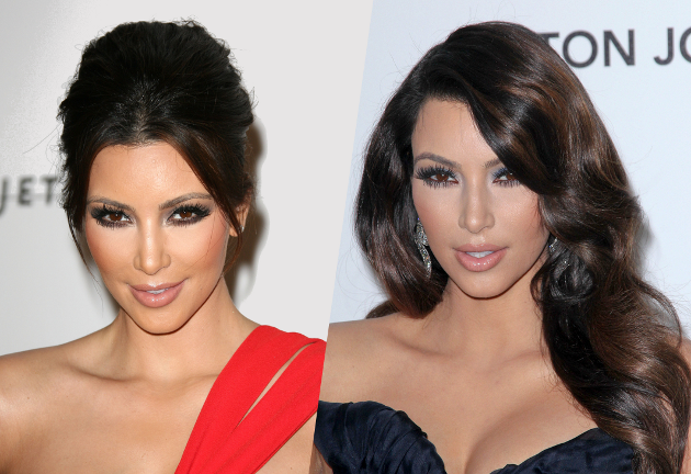 Kim Kardashian's Smokey Eyes Makeup