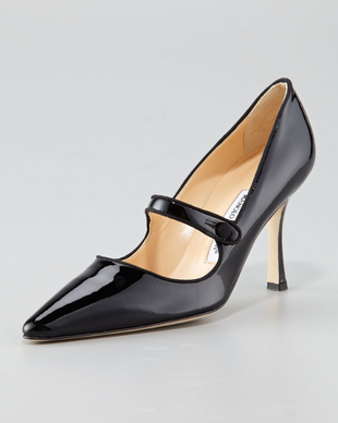Manolo Blahnik Patent Mary Jane Shoes