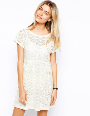 Empire Waist Lace Dress