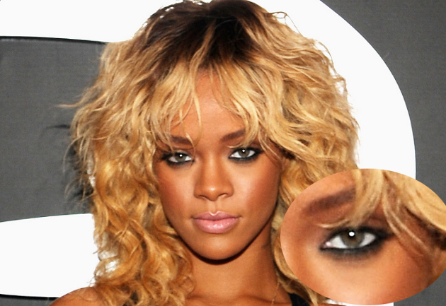 Rihanna Eyes Make Up