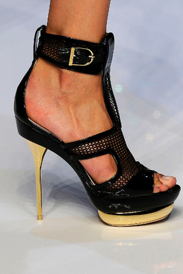 Black Gold High Heels