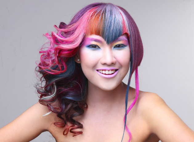 Colorful Rainbow Hairstyles