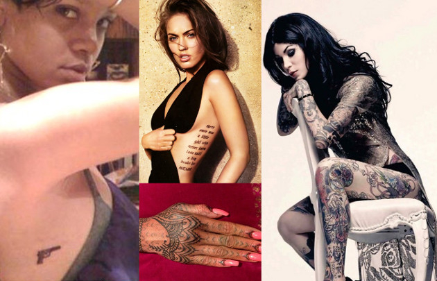 Tattoos of Rihanna Megan Fox and Kat Von D