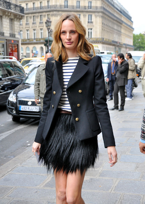 Lauren Santo Domingo Feather Skirt