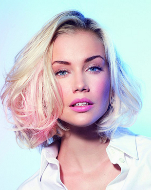 Blonde Pink Colored Hair
