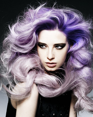 Gradient Purple Hair Color