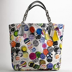 Kristin Photo Print Button Tote $398