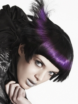 Black Hair With Purple Highlights