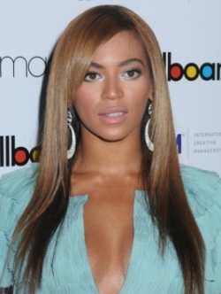 Beyonce sleek straight hair