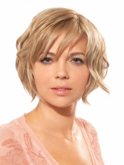 Short Hairstyle for Round Fat Faces Pictures