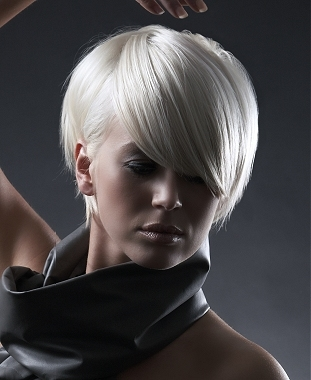 2010 Platinum Blonde Hairstyles for Short Hair
