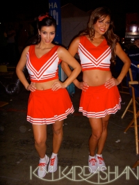 Kim Kardashian and Vanessa Minnillo on CSI:NY