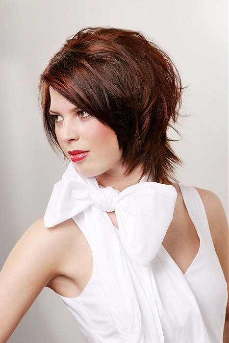Picture of Short Hairstyles For Round Faces And Fine Hair .