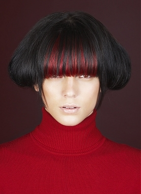 Colored Bangs Hairstyles