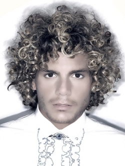 medium curly hair for men