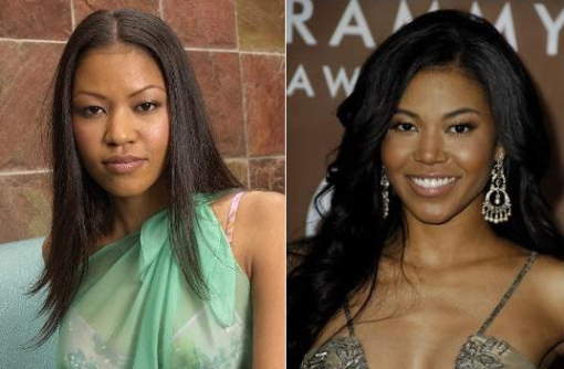 Amerie has clearly gotten a nose job. Her nose has changed dramatically after the release of her first album. Her new nose is thinner, narrower and better sculpted opposed to her old wider and flat nose. It absolutely helped her transform her look.