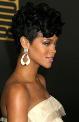 Short Curly Mohawk Hairstyles for Black Women