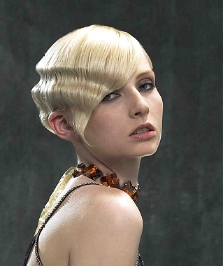 20s Flapper Hairstyles with Finger Waves