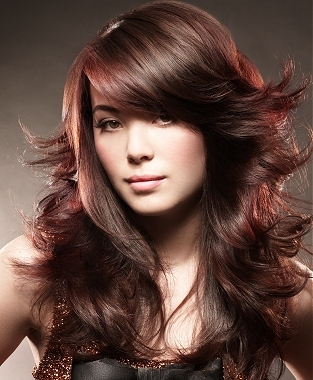 Wavy Hair Styles with Bangs