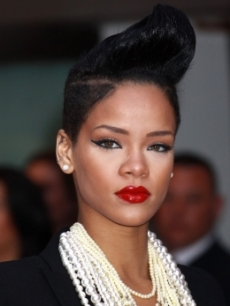 Rihanna Rockabilly Hairstyle