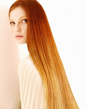 go for a light red hair color or you can choose a vivid red hair color