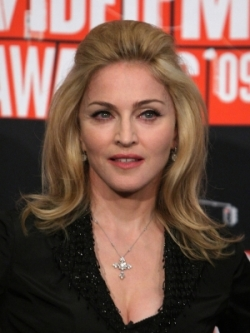 madonna medium straight hair