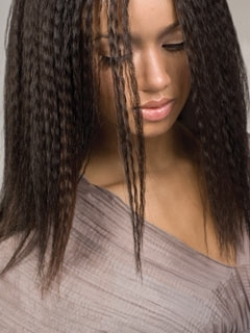 crimped hairstyle idea