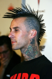 Men's Mohawk - Travis Barker's Hairstyle
