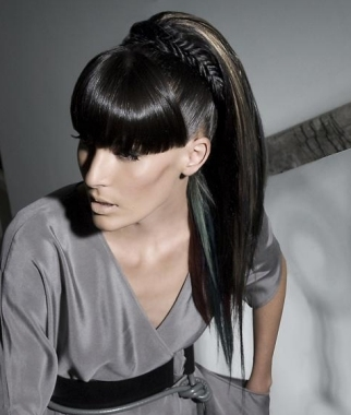 Ponytail hairstyles can create a simple or elegant look, a look which could