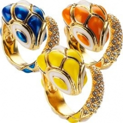 roberto cavalli colored snake rings