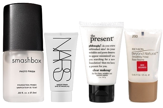 Makeup Primer ($33), Philosophy The Present Clear Makeup ($25), Revlon