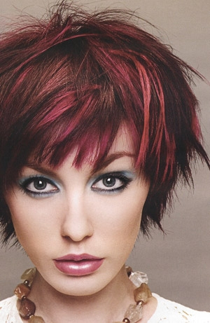 Brunette Hairstyles with Red Highlights
