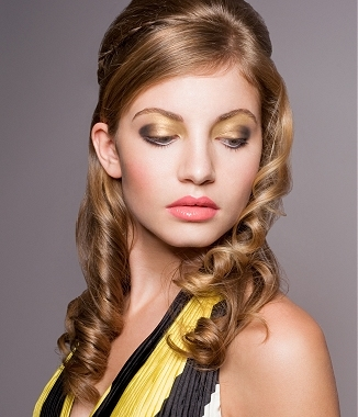 Half updos, half updo hairstyles pictures