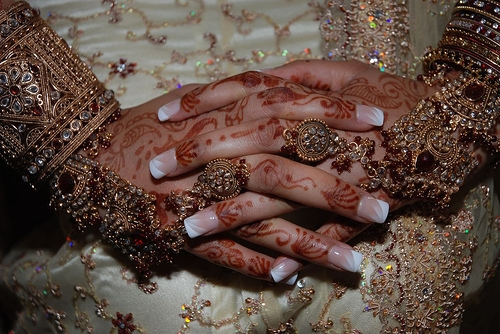 French Manicure for Brides