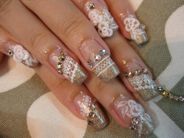 Acrylic Nail Designs For A Wedding: Acrylic nail designs for wedding.