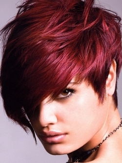 Red Burgundy Hair Color Girl