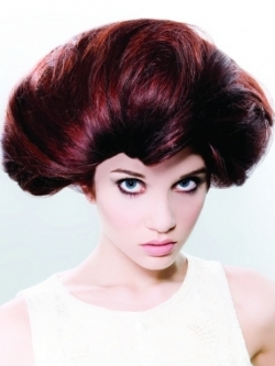 Red Burgundy Hair Style