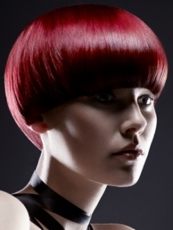 Red Burgundy Hair Color Style