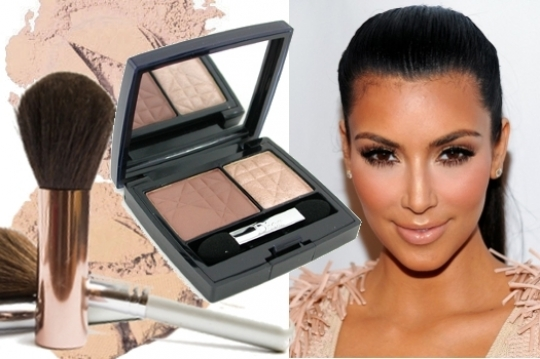 kim kardashian without makeup and weave. Nude Eye Makeup