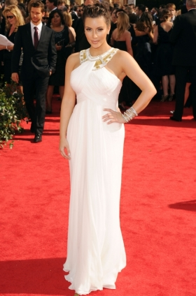 Kim Kardashian dress at the 2010 Emmys
