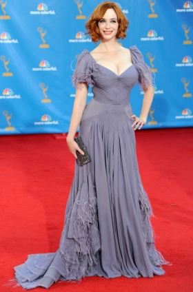 Christina Hendricks in Zac Posen 2010 Emmys