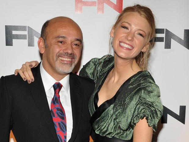 Blake Lively with designer Christian Louboutin