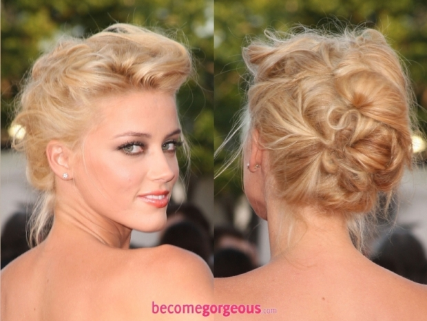 New Years Eve Party Hairstyles Amber Heard