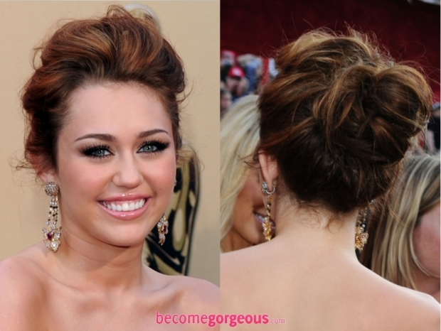 Miley Cyrus Hairstyles New Years Eve Party Updos