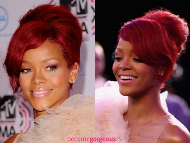 Rihanna New Years Eve Party Updo Hairstyle