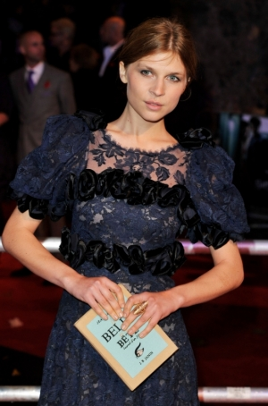 Clemence Poesy Olympia Le Tan book clutch
