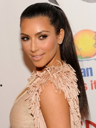 Kim Kardashian High Ponytail