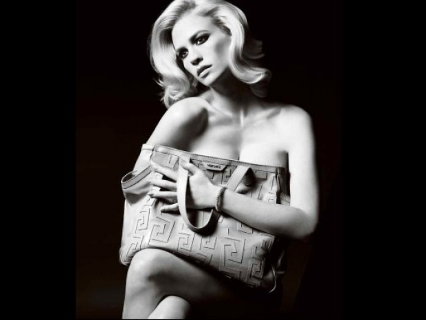 January Jones for Versace Campaign